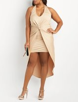 Charlotte Russe Plus Size Halter Knotted Maxi Dress