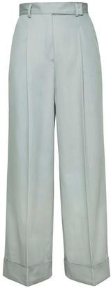 Loren Wide-Leg Trousers In Mint