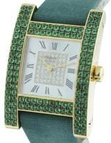 Chopard Your Hour 18k Yellow Gold Diamond & Emerald 25mm x 25mm x 36mm Watch