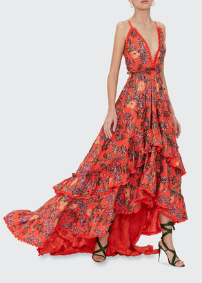 Alexis Primrose Tiered Floral Cocktail Dress