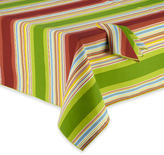Summer Stripe Indoor/Outdoor Tablecloth and Napkin