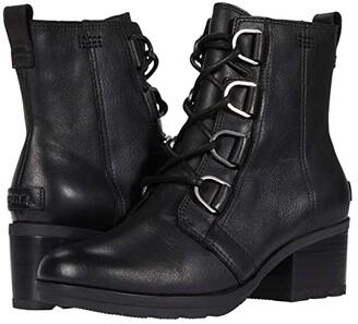 Sorel Cate Lace (Black) Women's Lace-up Boots
