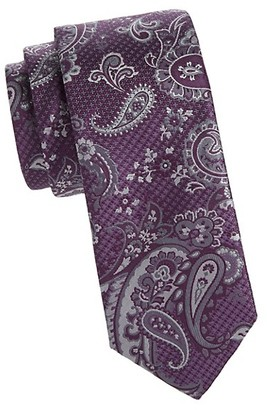 Canali Layered Paisley Silk Tie
