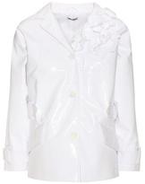Miu Miu Embellished Faux-leather Jacket