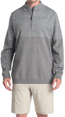 Puma Light Grey evoKNIT 1/4 Zip Golf Sweater