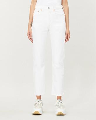 Levi's 501 Slim-Leg High-Rise Stretch-Denim Jeans