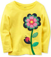 Carter's Floral-Applique Cotton T-Shirt, Toddler Girls