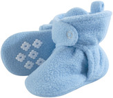 Little Treasure Boys' Infant Booties and Crib Shoes Light - Light Blue No-Skid Fleece Booties - Boys