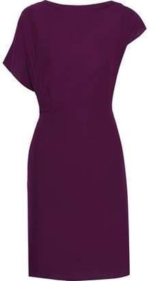 Iris & Ink Diane Asymmetric Crepe Dress
