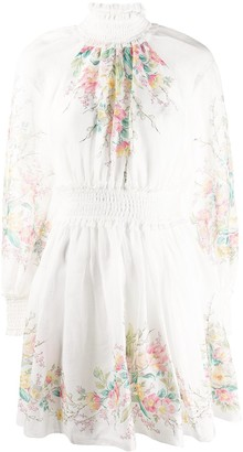Zimmermann Floral-Print High Neck Dress