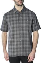 Haggar Men's Short Sleeve Microfibre Plaid Shirt