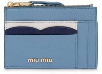 Miu Miu Madras Colour leather card holder