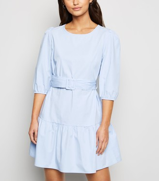 New Look Petite Poplin Belted Mini Dress