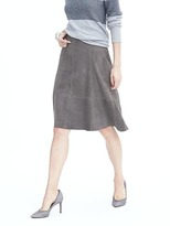 Banana Republic A-Line Suede Skirt