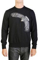 Moncler Men's Eagle Patch Crewneck Sweatshirt Black.