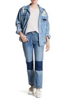 Anine Bing Straight Leg Denim Patch Jean