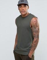 Asos Sleeveless T-Shirt In Khaki