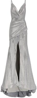 Jovani Metallic Ruched Gown