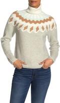 J.Crew J. Crew Fair Isle Turtleneck Sweater in Supersoft Yarn
