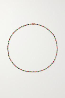 Anita Ko Hepburn 18-karat Rose Gold, Sapphire And Diamond Necklace