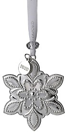 Waterford Silver Snowflake Ornament