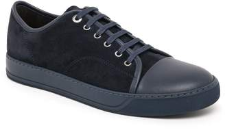 Lanvin Classic Suede & Leather Tonal Sneakers