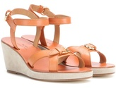 A.P.C. Patty Leather Wedge Sandals