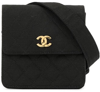 Chanel Pre Owned Textured Diamond Quilted Belt Bag