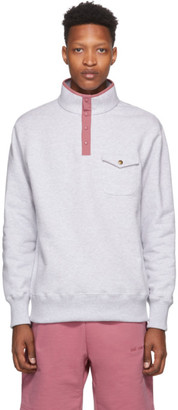 Leon Aime Dore Grey Half-Button Sweatshirt