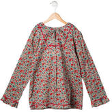 Papo d'Anjo Girls' Floral Print Long Sleeve Top w/ Tags