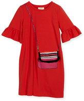Kate Spade girls' trompe l'Oeil bag dress, coral, size 7-17