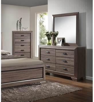 Lehn 6 Drawer Double Dresser with Mirror Union Rustic