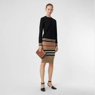 Burberry Icon Stripe Detail Merino Wool Sweater
