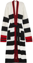 Haider Ackermann Striped Wool And Cashmere-blend Cardigan - Black
