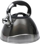Creative Home Crescendo 12-Cup Tea Kettle with Stainless Steel in Metallic Smoke