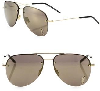 Saint Laurent Classic 59MM Mirrored Pilot Sunglasses