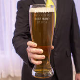 """Cathy's Concepts Cathys Concepts Personalized """"Will You Be My Best Man?"""" XL Beer Pilsner Glass"""
