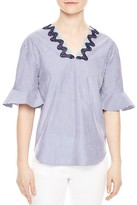 Sandro Arielle Embroidered Top