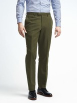 Banana Republic Slim Olive Cotton Linen Suit Trouser