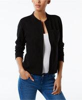 Eileen Fisher Organic Cotton-Blend Bomber Jacket