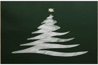 The Holiday Aisle Christmass Tree Handwoven Green/Gray Rug Rug Size: Rectangle 2' x 3'