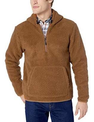 Goodthreads Sherpa Fleece Zip Pullover With Hood Jacket,Large Tall