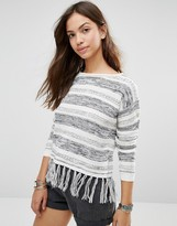 Only Calista Fringe Trim Sweater
