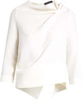 Roland Mouret Oscar double-faced wool long-sleeved top