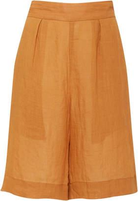 Anémone Highwaist Board Short In Fine Gauge Ramie Linen