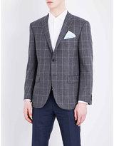 Corneliani Leader-fit Windowpane-print Wool Jacket