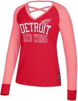 adidas Women's Red Detroit Red Wings Contrast Long Sleeve T-Shirt