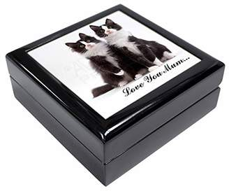Two Cats 'Love You Mum' Keepsake/Jewellery Box Christmas Gift