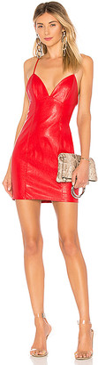 superdown Becca Faux Leather Dress
