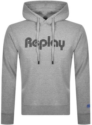 Replay Logo Hoodie Grey